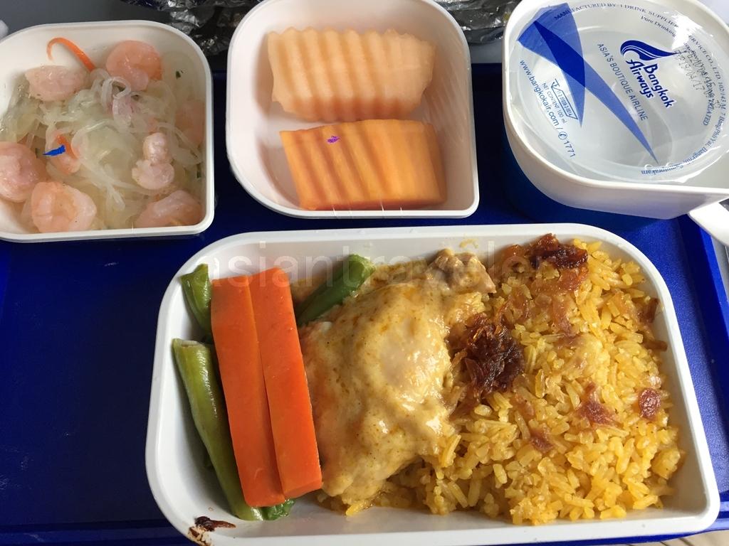 Bangkok Airwaysの機内食